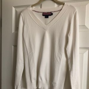 Vineyard Vines Cream V-Neck Sweater